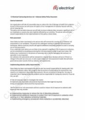 CJECS Asbestos Safety Policy Document