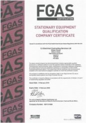 F Gas certification